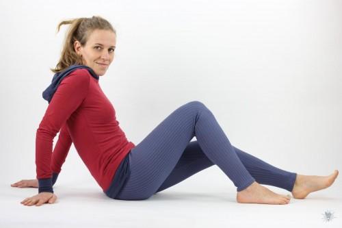 Leggings aus Ripp-Viskosejersey, lila