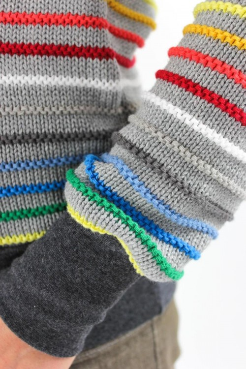 gestreifter Strickpullover aus Bio-Baumwolle