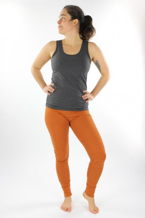 Leggings orange gepunktet