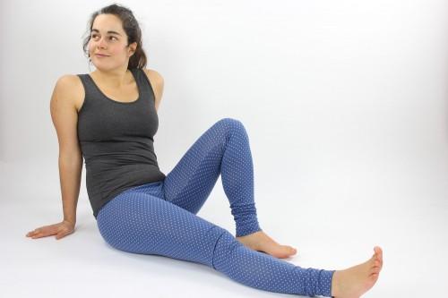 Leggings blau gepunktet
