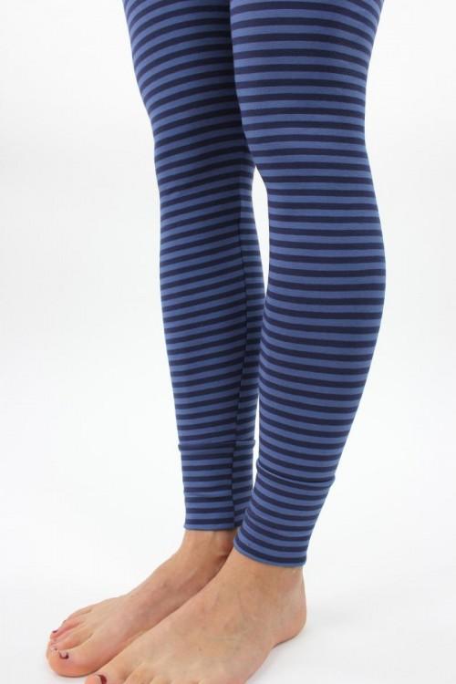 Leggings marine-blau gestreift