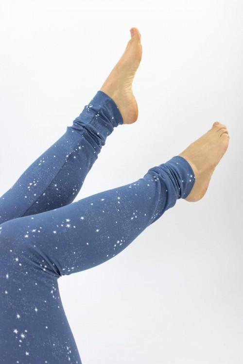 Leggings blau mit Sternen GOTS