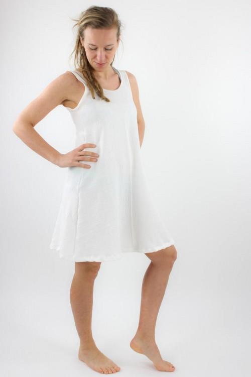 Musselin-Sommerkleid weiß
