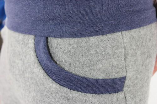 Wollhose unisex grau