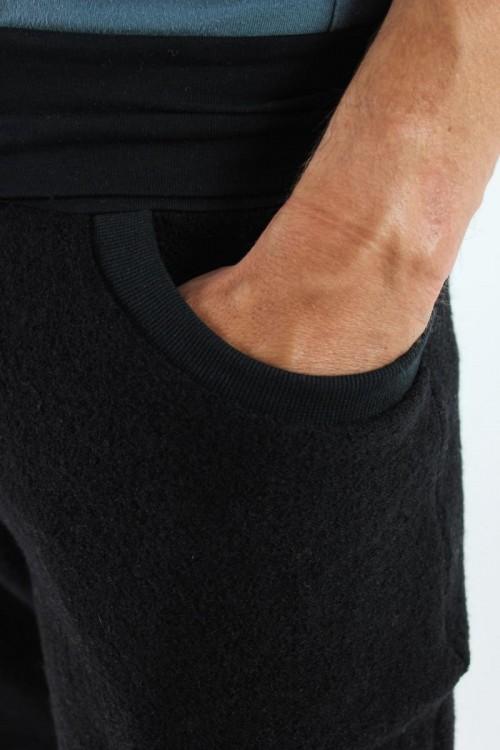 Wollhose unisex schwarz