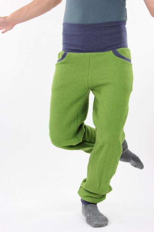 Wollhose unisex grün
