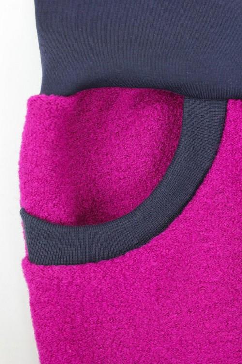 Wollhose unisex pink