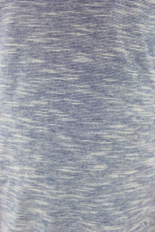 blau melierter Kinder-Kapuzenpulli aus Bio-Baumwolle