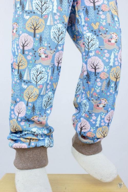 Kinder-Leggings blau mit Wintertieren