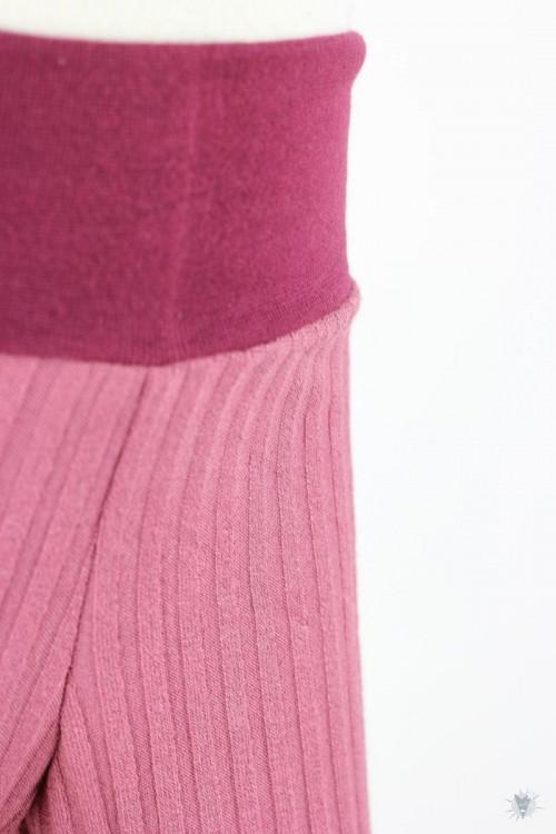 Kinder-Leggings aus Ripp-Viskosejersey altrosa