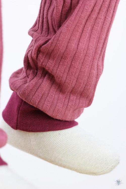 Kinder-Leggings aus Ripp-Viskosejersey altrosa 86/92
