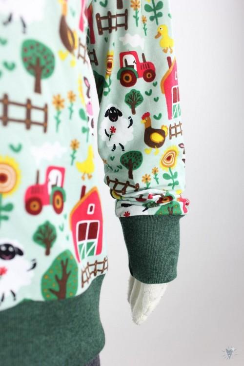 Kinder-Schlafanzug grüne Farm