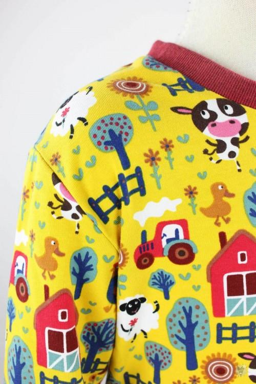 Kinder-Schlafanzug gelbe Farm