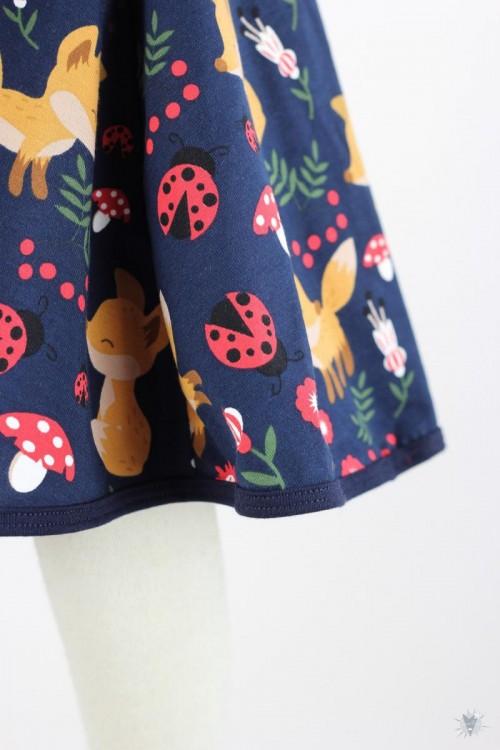 Kinder-Tellerrock mit Füchsen und Marienkäfern