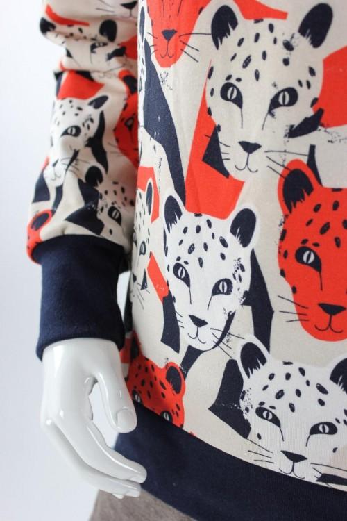 Kinder-Kapuzenpulli mit Leoparden