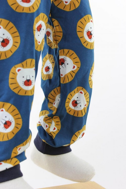 Kinder-Leggings blau mit Löwen