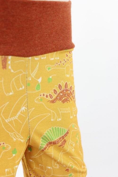 Kinder-Leggings gelb mit Dinos