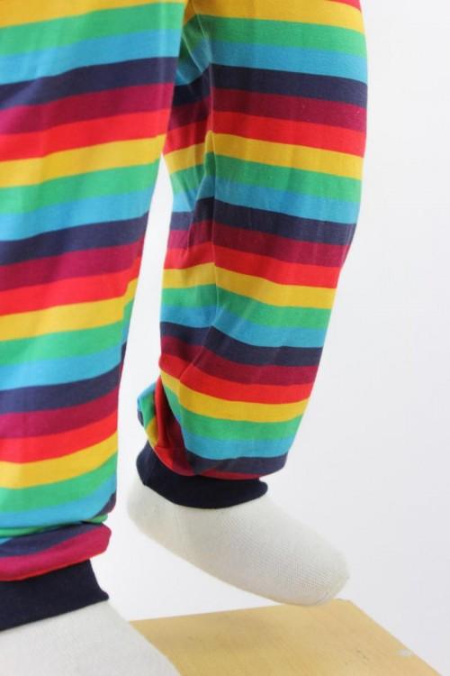 Kinder-Leggings mit Regenbogenstreifen