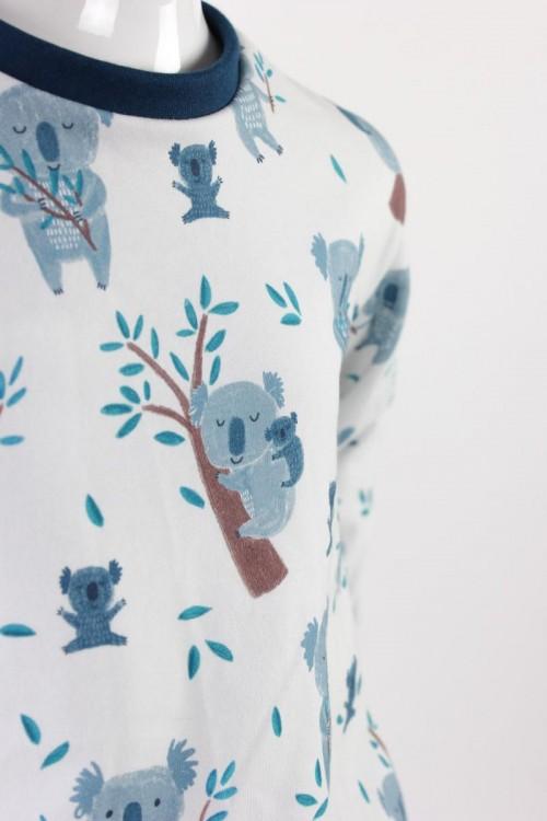 Kinder-Longsleeve weiß mit Koalas BIO-STOFFE