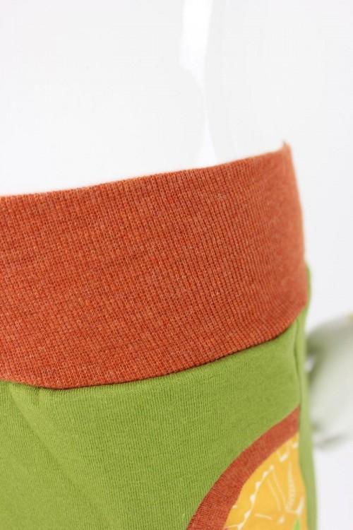 Tobehose für Kinder grün mit Dinos
