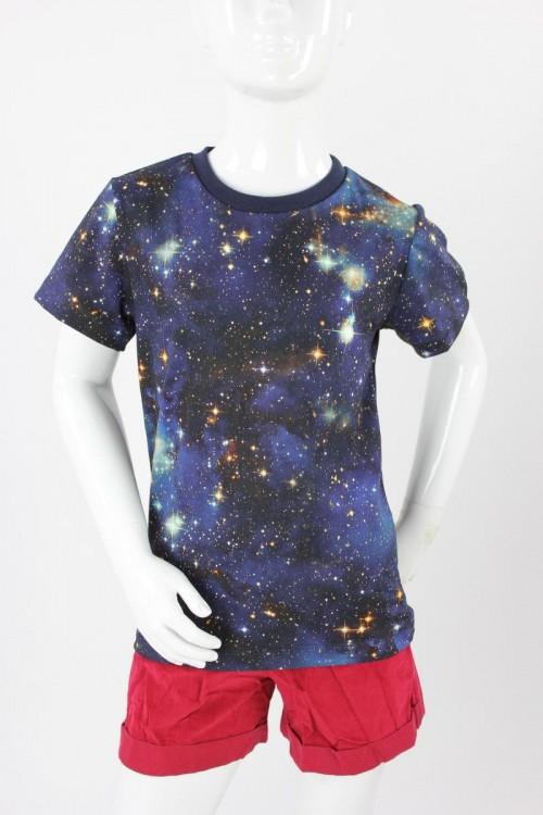Kinder-T-Shirt BLUE GALAXY