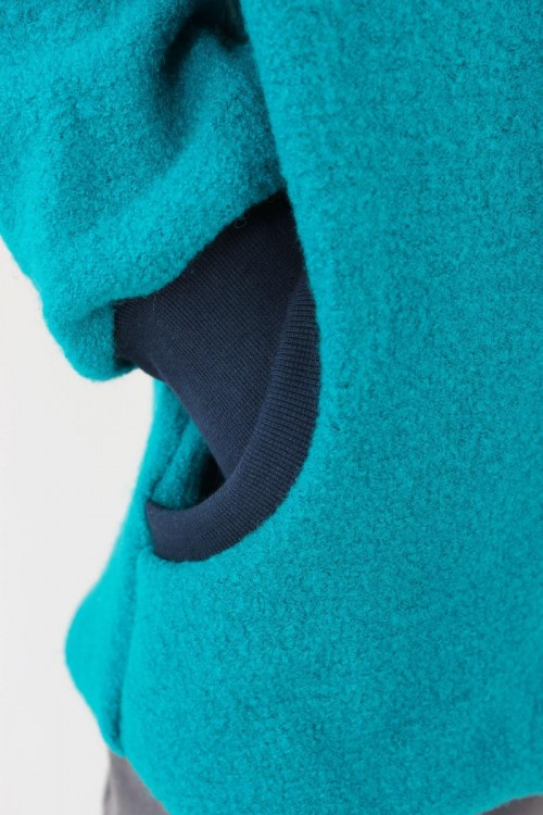 Kinder-Wolljacke türkis BLUE GALAXY