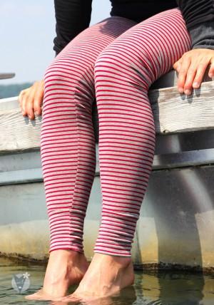 Leggings <br> grau-rot