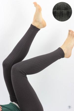 Leggings aus Ripp-Viskosejersey, braun