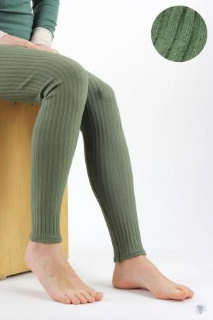 Leggings aus Ripp-Viskosejersey, grün