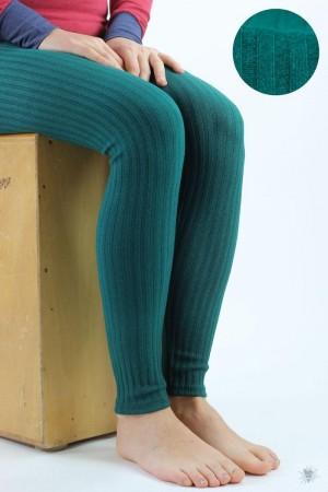 Leggings aus Ripp-Viskosejersey, smaragd