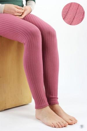 Leggings aus Ripp-Viskosejersey, altrosa