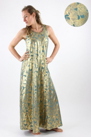 Maxikleid GOLDEN GINKGO