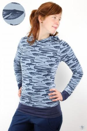 Sommerpulli Wale auf hellblau