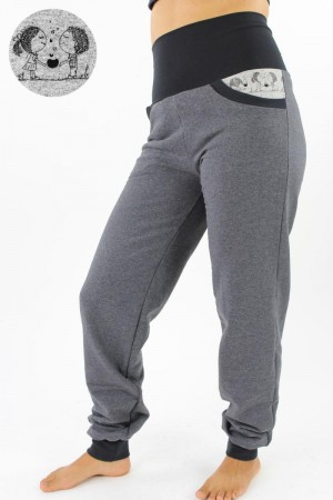 Sweat-Jogginghose anthrazit YOUNG LOVE L