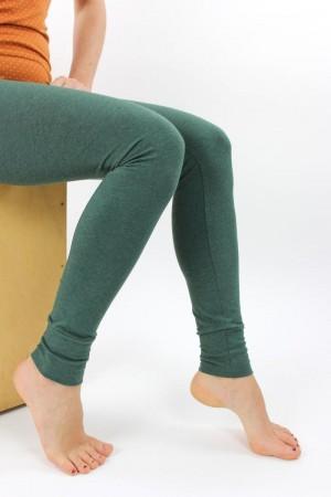 Leggings dunkelgrün meliert