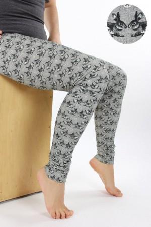 Leggings grau mit Hasen