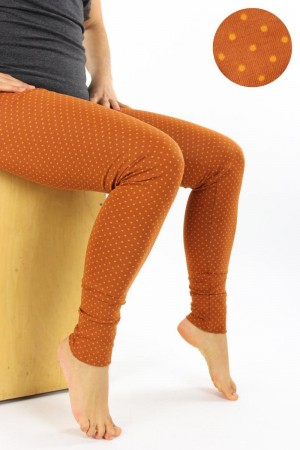 Leggings orange gepunktet