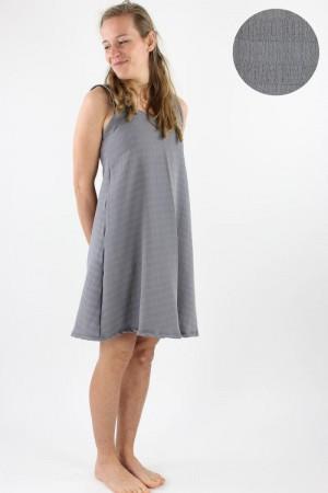 Musselin-Sommerkleid grau