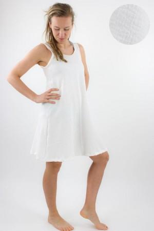 Musselin-Sommerkleid weiß L