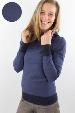 Damen-Sommerpulli marineblau meliert