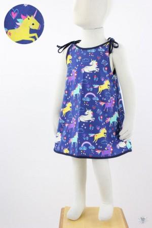 Kinder-Sommerkleid zum Binden Einhörner