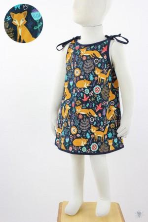 Kinder-Sommerkleid zum Binden Mohnfüchse