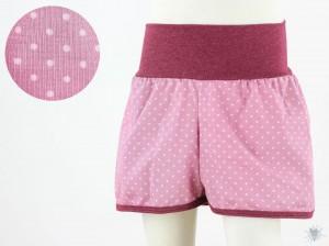 kurze Hose für Kinder mit Punkten auf rosa