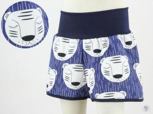 kurze Hose für Kinder mit schlafenden Tigern auf blau