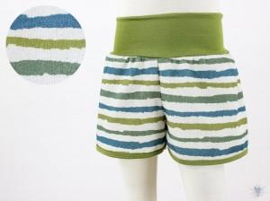 kurze Hose für Kinder mit Naturstreifen