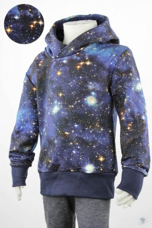 Kinder-Kapuzenpulli BLUE GALAXY
