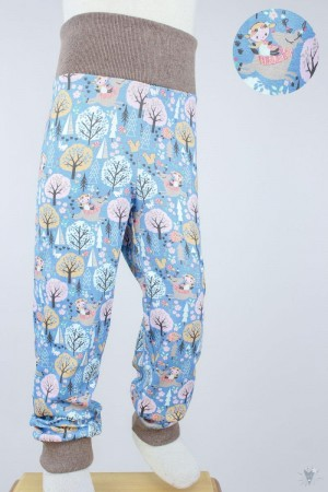 Kinder-Leggings blau mit Wintertieren