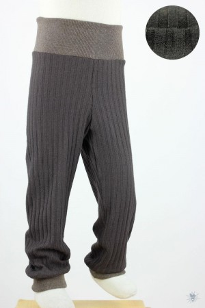 Kinder-Leggings aus Ripp-Viskosejersey braun