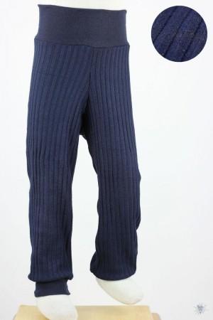 Kinder-Leggings aus Ripp-Viskosejersey marine