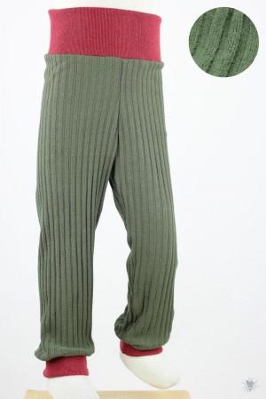 Kinder-Leggings aus Ripp-Viskosejersey grün